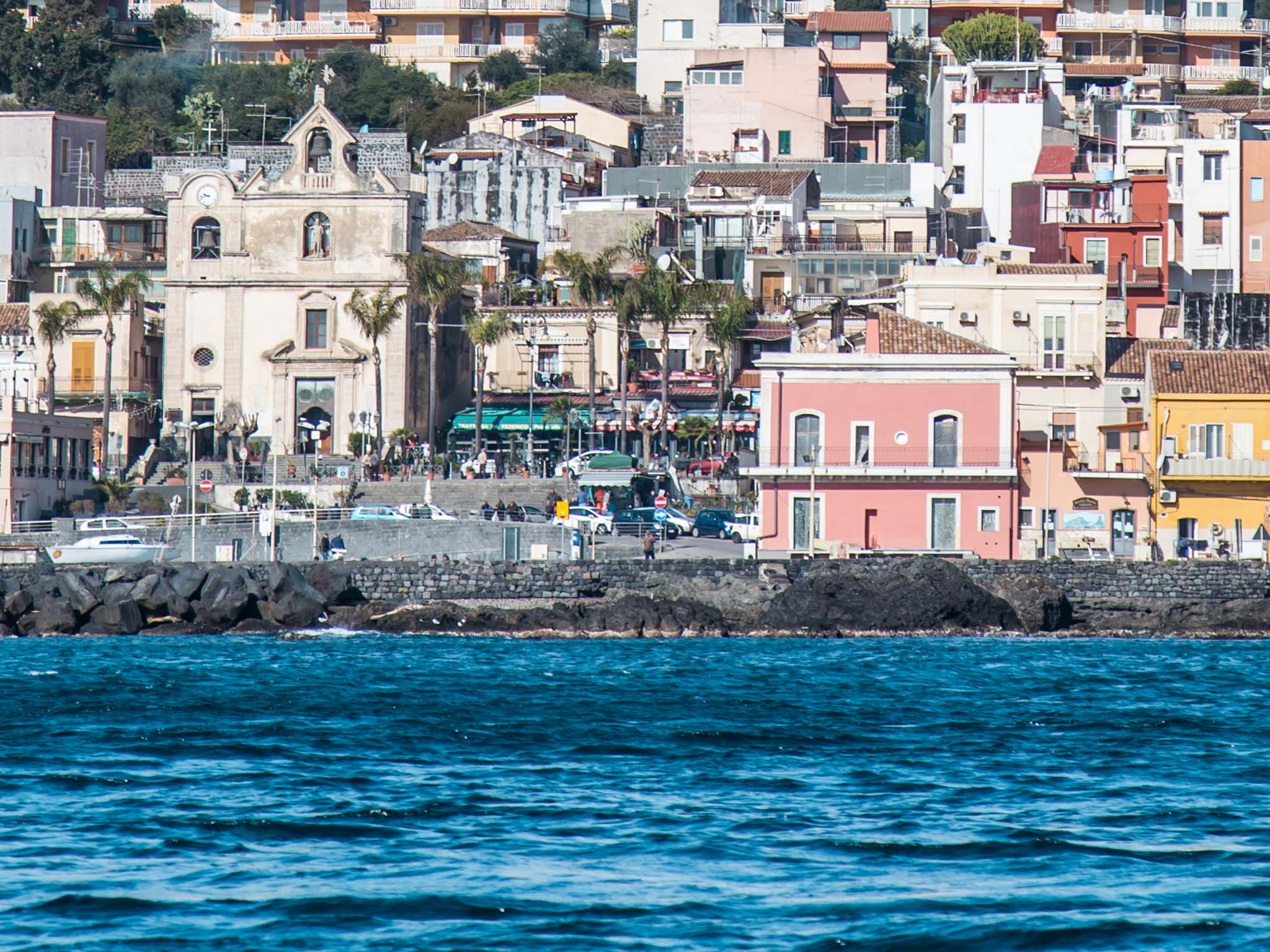 catania from the sea